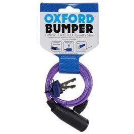 OXFORD zámek Bumper Cable Lock, fialový 60cm Zámky