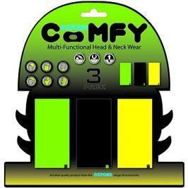 OXFORD nákrčníky Comfy jednobarevné, (sada zelený/černý/žlutý, 1ks od barvy)
