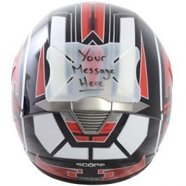 OXFORD protektor laku přilby Helmet Bumper Message, (možnost naspsání vlastního textu)