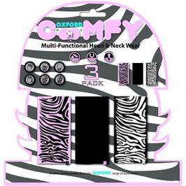 OXFORD nákrčníky Comfy Zebra, (sada 3ks)