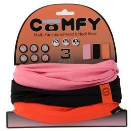 OXFORD nákrčníky Comfy jednobarevné, (sada růžový/černý/červený, 1ks od barvy)