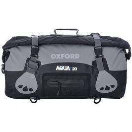 OXFORD vodotěsný vak Aqua20 Roll Bag, (černý/šedý, objem 20l)