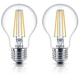 Philips LED Classic Filament Retro 6-60W, E27, 2700K, čirá, set 2ks