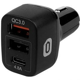 Odzu Car Charger With Quick Charge 3.0 Black